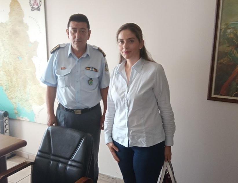 Επίσκεψη στα Σώματα Ασφαλείας του Νομού μας για την Υπ. Βουλευτή της ΝΔ Σέβη Κονταξή-Νάση