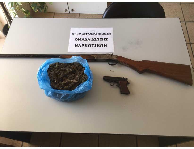 Συνελήφθησαν στο Καναλλάκι Πρέβεζας, σε δύο διαφορετικές περιπτώσεις, δύο άτομα, που κατηγορούνται και κατοχή ναρκωτικών ουσιών και παράνομη οπλοκατοχή