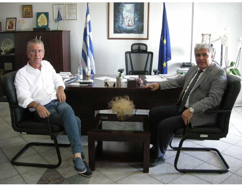 Επίσκεψη νέου Δημάρχου Πρέβεζας Ν. Γεωργάκου στον Αντιπεριφερειάρχη κ. Στράτο Ιωάννου