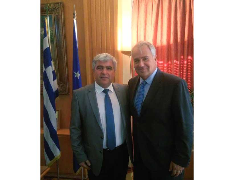 Συνάντηση του Δημάρχου Πρέβεζας κ.Νίκου Γεωργάκου με τον Υπουργό Αγροτικής Ανάπτυξης στην Αθήνα.