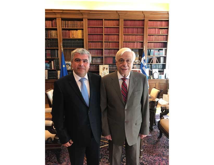 Συνάντηση Δημάρχου Πρέβεζας κ. Νίκου Γεωργάκου με τον Πρόεδρο της Δημοκρατίας κ. Προκόπη Παυλόπουλο