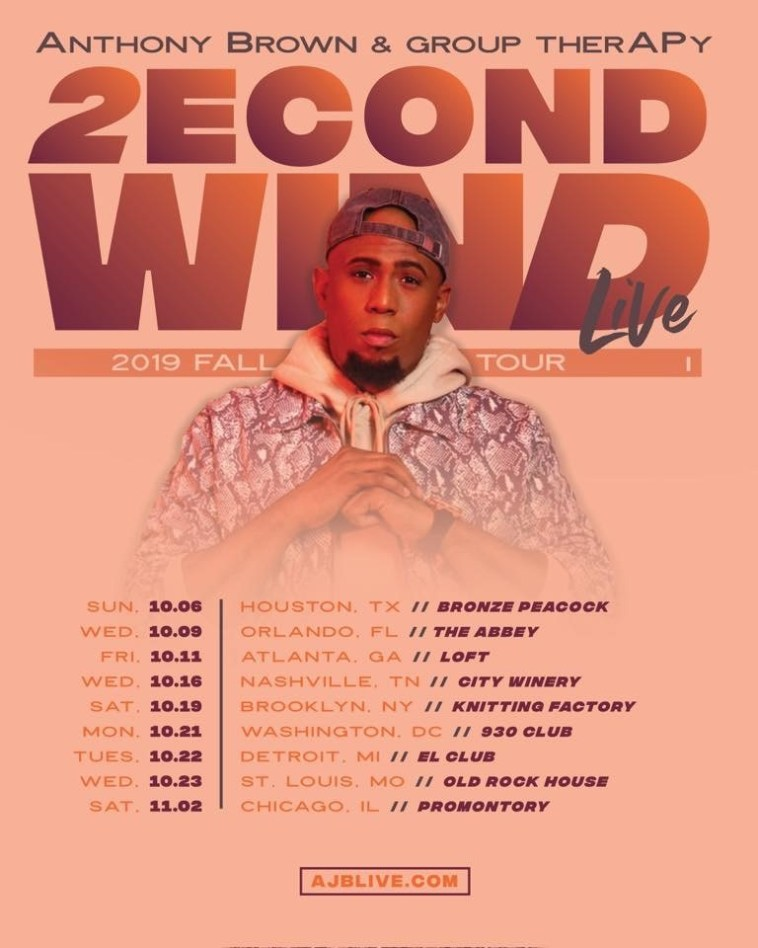 Anthony Brown 2econd Wind Live Tour Flier