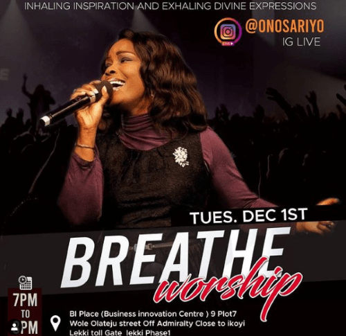 """""""BREATHE WORSHIP WITH ONOS"""" DECEMBER EDITION"""
