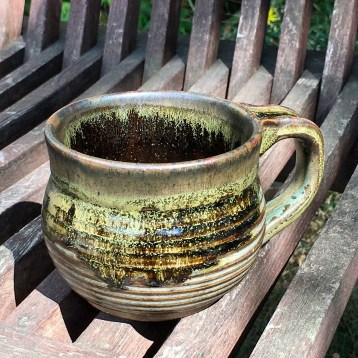 Mug (tenmoku over celery) *n/a