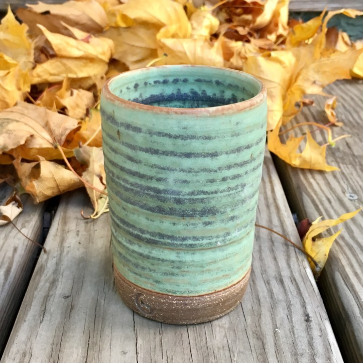 Cylinder vase (Granny Smith green glaze) *n/a