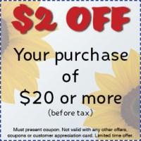 $2 off coupon Gossett Brothers Nursery