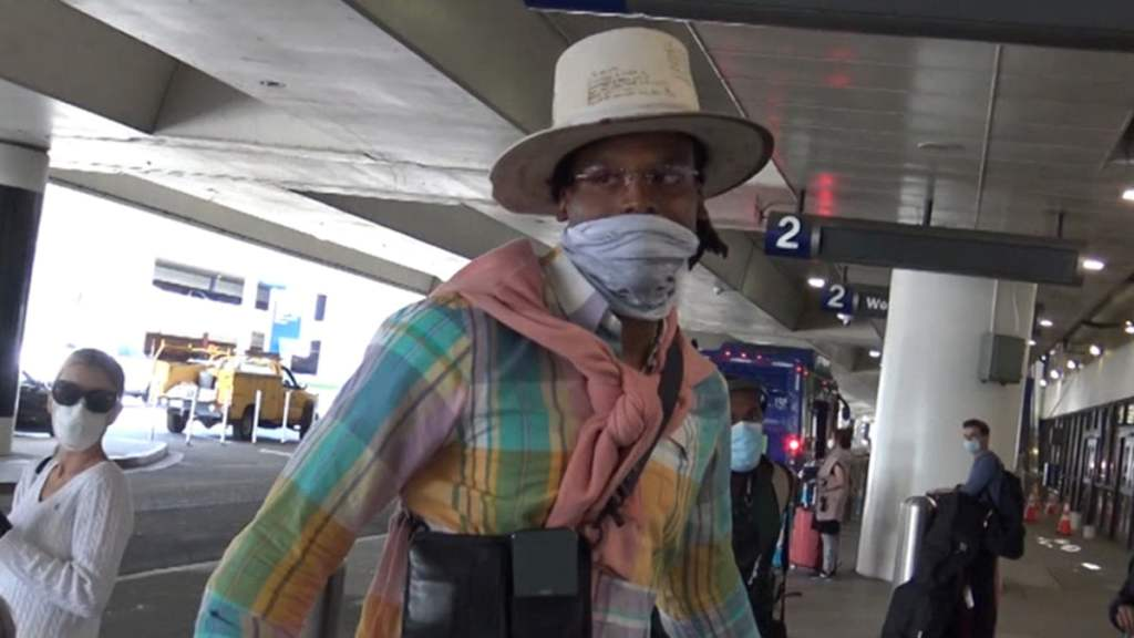 Cam Newton Touches Down In L.A. in Fresh Outfit After Signing with Patriots