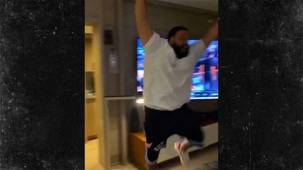 DJ Khaled Lost His Mind Celebrating Miami Heat Win, 'WE IN THE FINALS!'