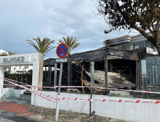 Elliott Wright's Costa del Sol restaurant gutted by fire