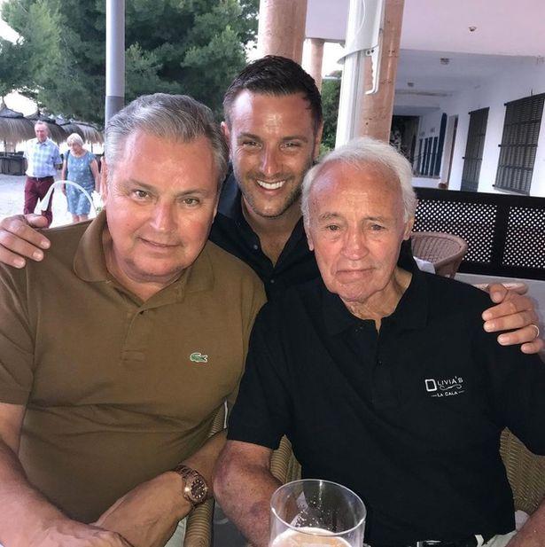 Eddie (left) with son Elliott (centre) and Eddie Snr. (right)