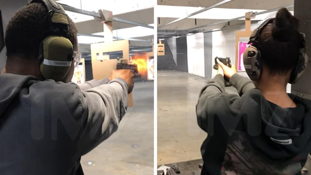 Michael B. Jordan Visits Gun Range with GF Lori Harvey