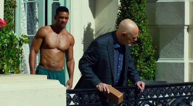 Will Smith looking ripped in his movie Focus