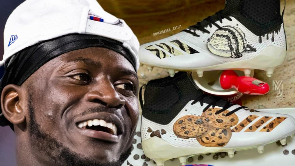 NFL's Tre'Davious White Gets Cookies & Ice Cream Cleats To Match Pre-Game Ritual