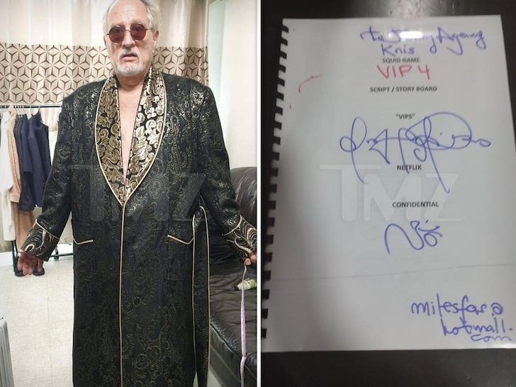 'Squid Game' VIP Actor to Auction Off Robe, Script for Charity