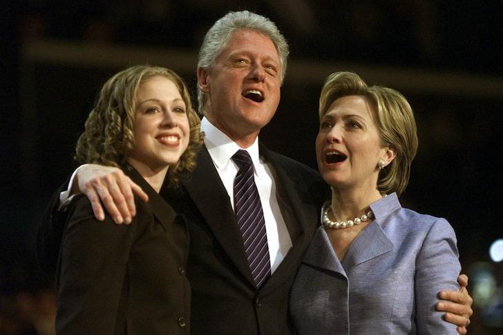 President Bill Clinton's family