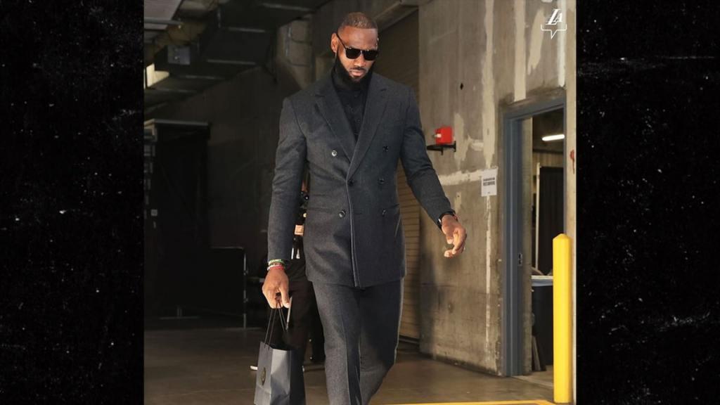 LeBron James Rocks $1,000 Prada Shoes To Lakers Game