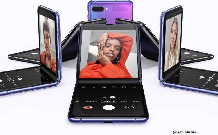 The new Samsung Galaxy android Flip phone launched on 21 FEB