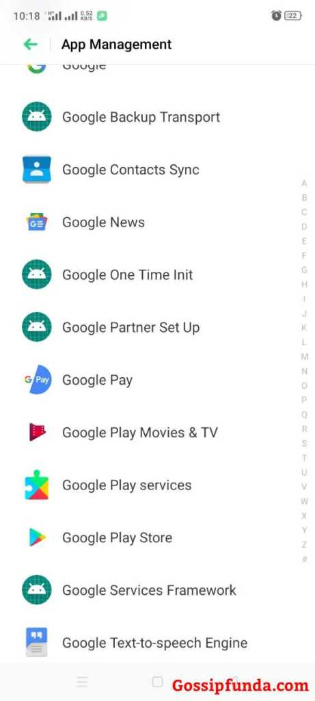 Google Play Store option