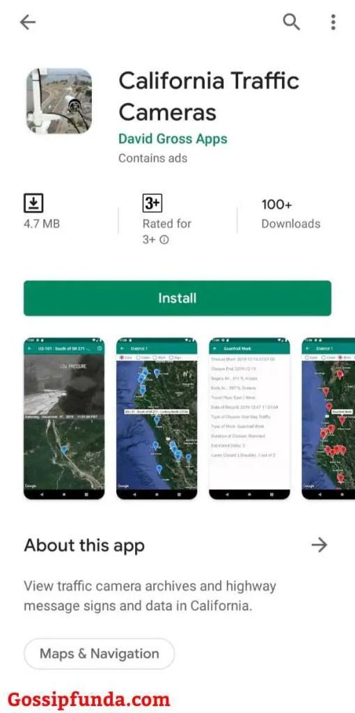 California Traffic Cameras App