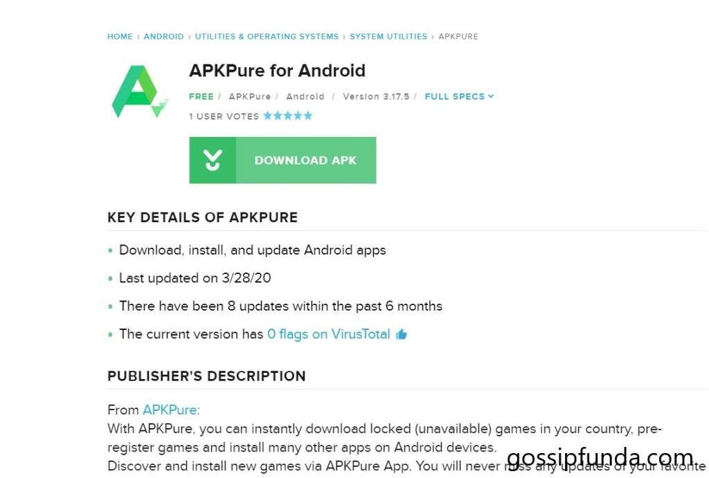 """""""apkpure"""": Applications and personal reviews"""
