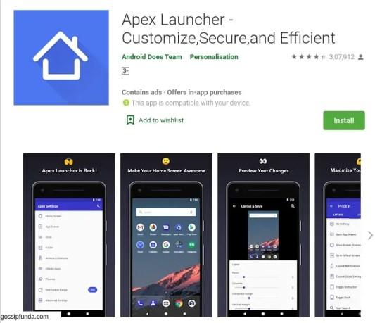 Apex Launcher for com.lge.launcher3