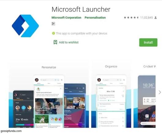 Microsoft Launcher for com.lge.launcher3