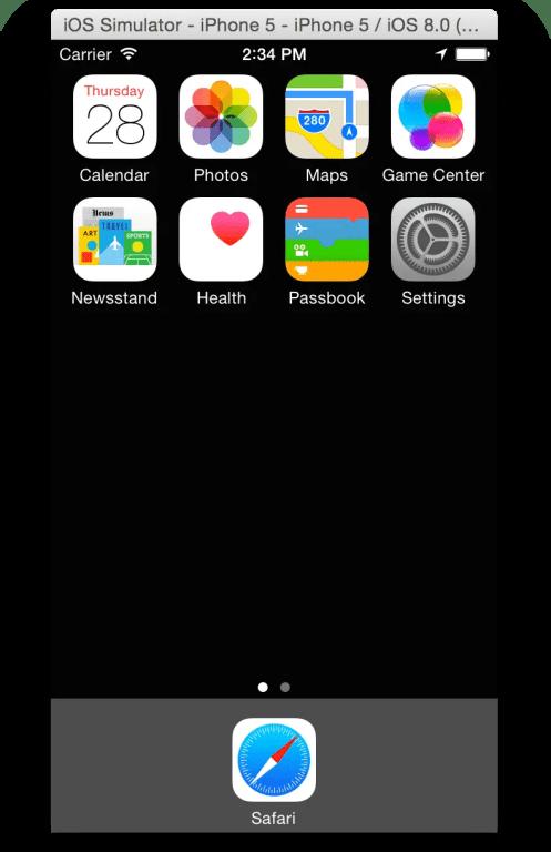 iOS Simulator in Xcode