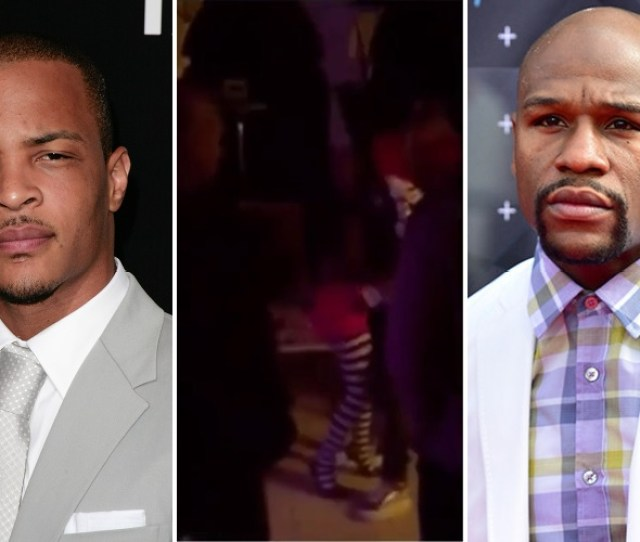 T I Shades Floyd Mayweather On Instagram Floyd Posts Video Dancing With Tiny At Mariah Careys Halloween Party