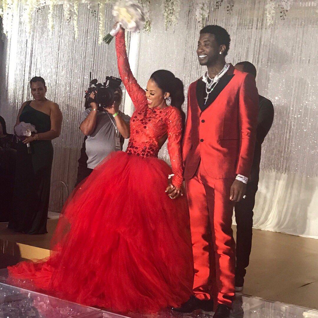 Gucci Mane \u0026 Keyshia Ka\u0027oir Wore Matching Red Outfits at