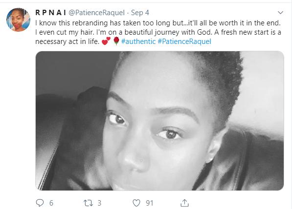Raquel rebrands to a Gospel artiste 2