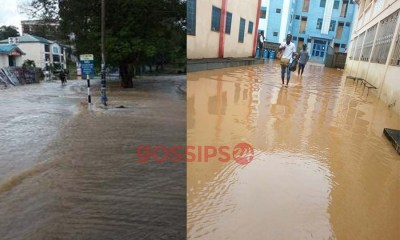 UCC flooded after heavy downpour