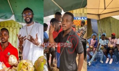 Stonebwoy joins Football Star Adebayor to 'transform' the life of a Coconut seller (Video) 4
