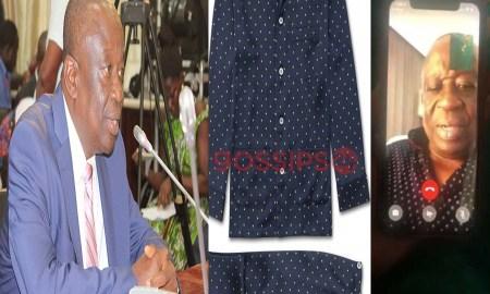 Kan Dapaah's pyjamas