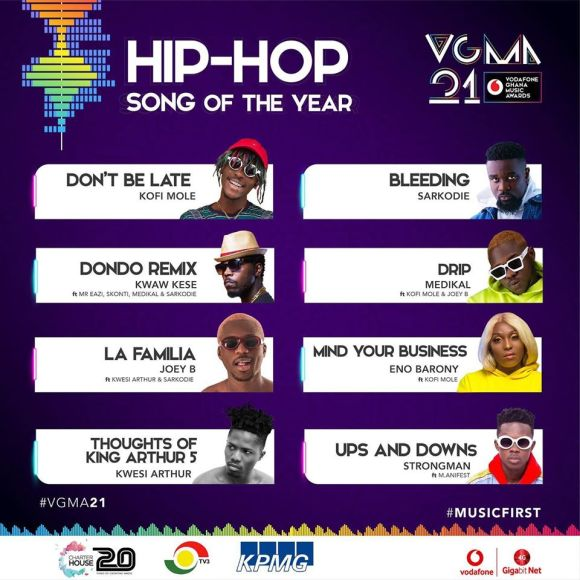 VGMA 2020: Hip Hop Song of the Year