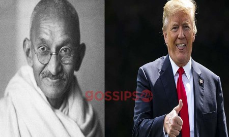 Mahatma Gandhi and Trump