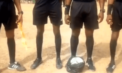 Referees refuse to touch match ball after it was wrapped in a polythene bag in BA Utd, Bofoakwa derby (VIDEO) 1