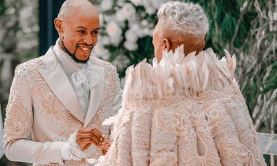 South African Gay couple, Somizi & Mohale Wed each other in Expensive white wedding (Photos) 13