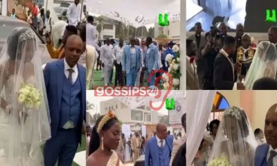 Beautiful Scenes from Kwame Despite's Son Kennedy Osei and Tracy's White Wedding (VIDEOS) 6