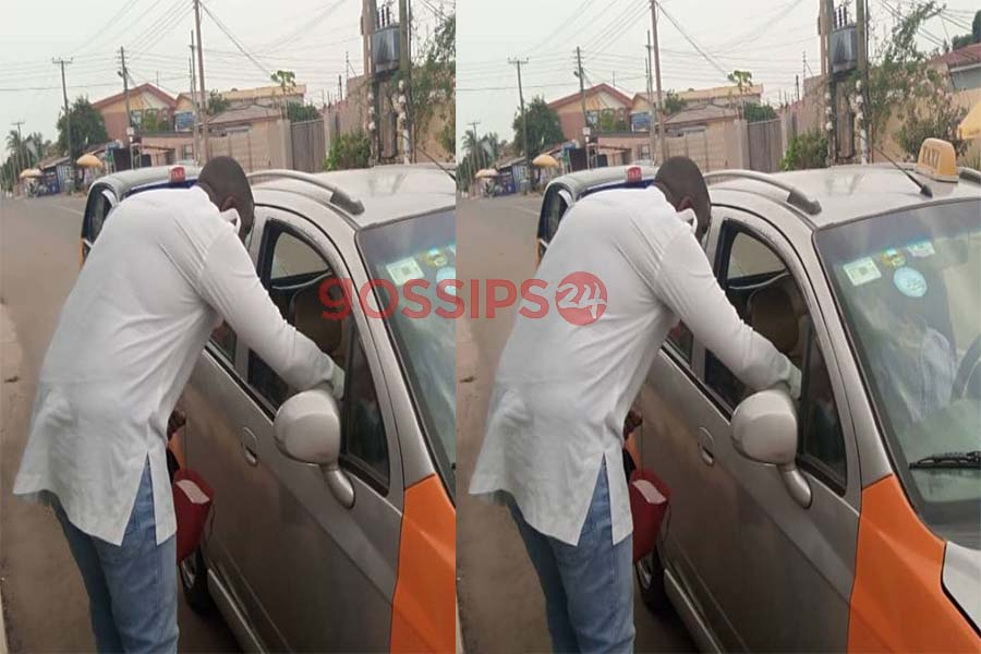 John Dumelo gives free sanitizers to taxi drivers