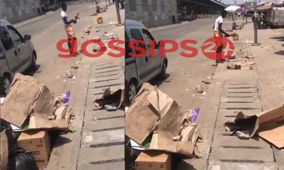 Boy ordered to sweep the streets of Accra for going to buy an earpiece