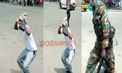 Man punished severely for taking videos of some military personnel at Kasoa