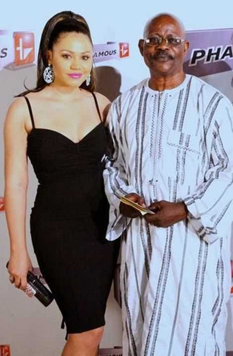 Nadia Buari's father, Sidiku Buari got confused