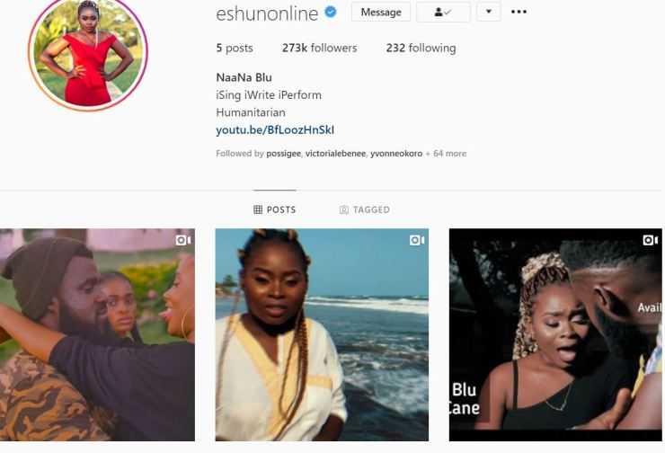 eShun's Instagram account taken over by her former management