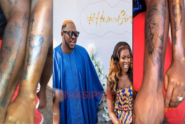 Medikal and Fella Makafui get their first tattoos as lovers