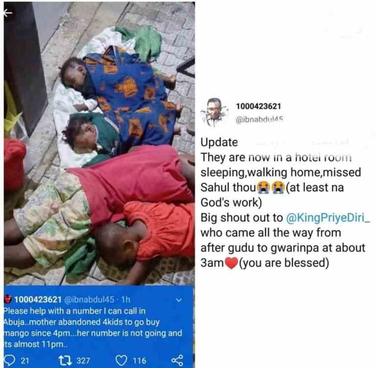 SAD! Mother abandons 4 children to buy mango and never returned (Photos) 2