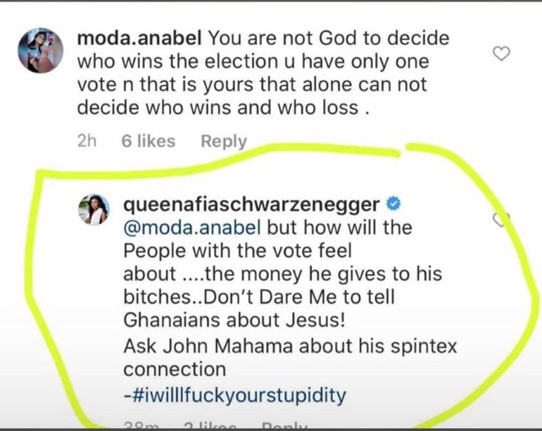 John Mahama he will use the nation's money on his side chicks, don't vote for him - Afia Schwar tells Ghanaians (screenshots) 1