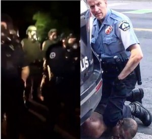 75 Police Officers Seen Protecting The Home Of Police Man