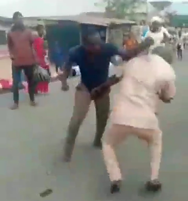 Two Men Fight Furiously Because Of A Woman