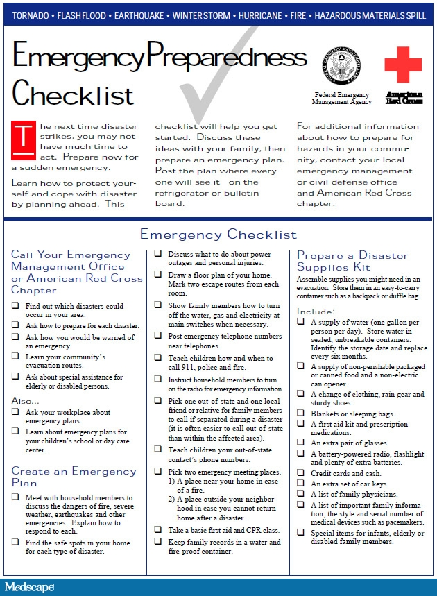 Know What To Do Incase Of An Emergency – 7 14 16 GO STAY KIT