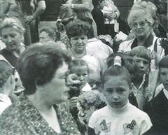 Броня с внуком своей ученицы первого выпуска, 1996 г.